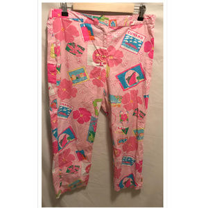Size 12 Lilly Pulitzer Capri Pants Postcards